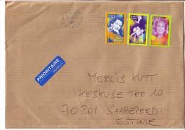 GOOD FRANCE Postal Cover To ESTONIA 2014 - Good Stamped: Music / Singers - Frankrijk