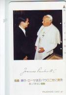 Télécarte Japon * 110-43821 * PAPE JEAN-PAUL II * POPE (28)  Japan * Phonecard * PAPST - PAPA * Religion - Personaggi