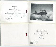 lot de 2 tres belles cartes de voeux, 1 Royal Air Force, RFA, Ternhill, Salop, England.