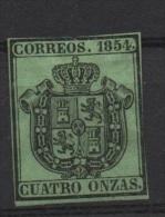 4o. Negro S.verde ; Edifil No.30; Michel Nr.Dienstm.3,no Usado - Nuevos
