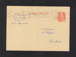 CP Marianne 12 Francs 1952 - Biglietto Postale