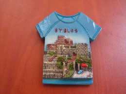 Lebanon Magnet Souvenir Byblos From Resin, Liban Magnetic - Tourism