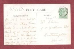 RARE ROWHEDGE THIMBLE POSTMARK ON WIVENHOE RIVER COLNE PC USED 1911 ESSEX POSTAL HISTORY - England