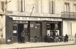 LIBOURNE CARTE PHOTO EPICERIE MERCERIE BAR DU PONT ANIMEE TOP RARE - Libourne