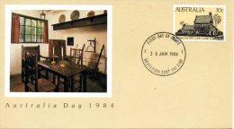 AUSTRALIE. N°847 De 1984 Sur Enveloppe 1er Jour (FDC). Maison De Cook. - Esploratori