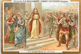 Chromos Réf. A 14-179 Chicorée A La Boulangère Cardon-Duverger Cambrai Sainte Geneviève Et Attila - Non Classificati