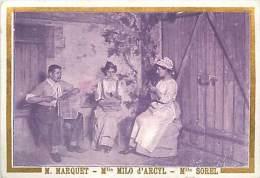 Chromos Réf. A 14-199 Crêmes L. Revault  Spectacle J. Raunay M Marquet Mlle Milo D'Arcyl Mlle Sorel - Süsswaren