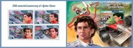 mld14102ab Maldives 2014 Car Formula 1 Ayrton Senna 2 s/s