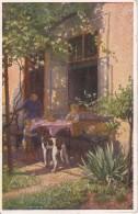 AK A. Karlinsky - Beim Frühstück - Galerie Wiener Künstler Nr. 152 (5817) - Künstlerkarten