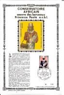 België  Y/T  1795  Herdenkingskaart   Zijde    Conservatoire Africain     238/400 - Cartes Souvenir