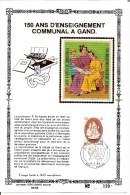 België  Y/T  1905/1906  Herdenkingskaart   Zijde   Onderwijs    39/400 - Cartes Souvenir