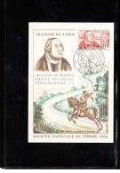 ALGERIA - 1956 - STAMP DAY /TAXIS MAXI CARD - Brieven En Documenten