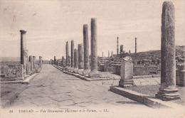 CPA Timgad - Voie Dècumanus Maximus Et Le Forum  (5834) - Batna