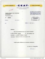"""Courrier à Entête """" CEAT """" Câbles électriques à Poissy 78 Yvelines - France"""