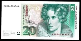 304 :20 Dm Duitsland /Ersatznote Za Serie 1-10-1993... See The Scans For Condition. ( Originalscan !!! ) - 20 Deutsche Mark