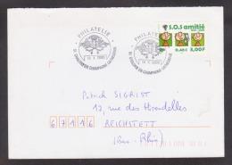 FRANCE / 2000 / Y&T N° 3356 : SOS Amitié Sur Pli Entier Du 18/10/2000 - Marcophilie (Lettres)