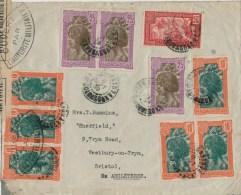 Madagascar-Angleterre, 1939: censure militaire et cachet unique C.C 3