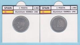 SPAIN /JUAN CARLOS I    1 PESETA  1.982  Aluminium  KM#821   UNCirculated   T-DL-9372 - [ 5] 1949-… : Royaume
