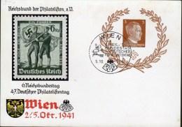 ENTIER POSTAL 1941 - AVEC LES LAURIERS - OBLIT.TEMPORAIRE DE VIENNE OCCUPEE - - Allemagne