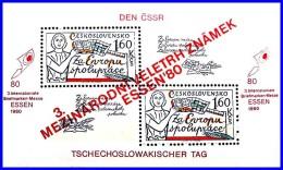 CZECHOSLOVAKIA 1980 ESSEN STAMP SHOW S/S SC#2334 MNH CV$20.00 Read (D01) - Unused Stamps