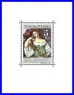 CZECHOSLOVAKIA 1965 TITIAN'S PAINTING S/S SC#1336 MNH CV.$6.00  COSTUMES (D01) - Blocks & Sheetlets