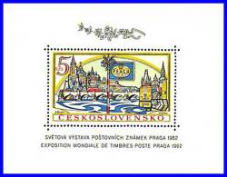 CZECHOSLOVAKIA 1962 PRAGUE STAMP SHOW S/S SC#1134 MNH CV.$12.00 BRIDGE (D01) - Blocks & Sheetlets