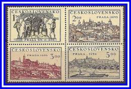 CZECHOSLOVAKIA 1950 PRAGUE VIEWS In PAINTINGS SC#426-29A  MNH CV.$25.00 (D01) - Czechoslovakia