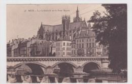 (RECTO / VERSO) METZ EN 1924 - N° 96 - LA CATHEDRALE ET LE PONT MOYEN - Metz