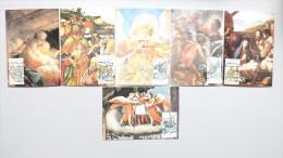 Vatikan 957/62 Yt 843/8 Sc 819/24 Maximumkarte MK/MC, ESST, Weihnachten 1988 - Cartes-Maximum (CM)