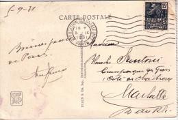 EXPOSITION COLONIALE INTle PARIS LE 5-9-1931 SUR 15c FEMME FACCHI - CARTE POSTALE TEMPLE D'ANGKOR-VAT.. - 1921-1960: Moderne