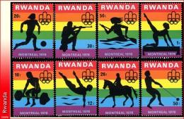 Rwanda 0769/72**  Jeux Olympiques de Montreal  MNH