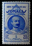 LEONCE LAGARDE 1939 - NEUF ** - YT 186 - MI 177 - TIMBRE GRAVE - Côte Française Des Somalis (1894-1967)