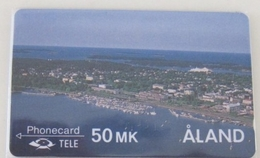 GPT Phonecard,2FINC,D Sailship And View Of Island,set Of 2,mint - Aland