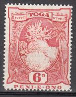 Tonga    Scott No.  78    Unused Hinged    Year  1942   Wmk 4 - Tonga (1970-...)
