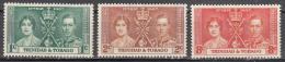 Trinidad And Tobago     Scott No. 47-49     Unused Hinged     Year  1937 - Trinidad & Tobago (1962-...)