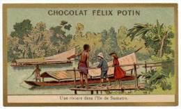 Chromo Chocolat Félix Potin, Une Rivière Dans L'île De Sumatra - Chocolat