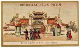 Chromo Chocolat Félix Potin, Devant Le Palais Du Kinh Luoc à Hanoï - Chocolat