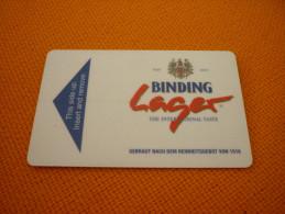 Germany - Frankfurt Steigenberger Maxx Hotel Magnetic Key Card (beer/vin/lager/Binding) - Alimentation