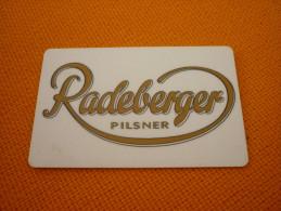Germany - Frankfurt Steigenberger Hotel Magnetic Key Card (radeberger Beer) - Grecia