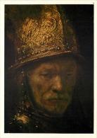 Rembrandt Van Rijn  Man In A Golden Helmet Art Postcard - Paintings