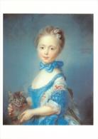 Perronneau, Jean-Baptiste  A Girl With A Kitten National Gallery London Art Postcard - Peintures & Tableaux
