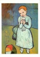 Picasso, Pablo  Child With A Dove National Gallery London Art Postcard - Peintures & Tableaux