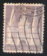 Allemagne 1948 Oblitéré Used Porte Holstentor Lubeck 2 Dm - Zone Anglo-Américaine