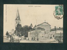 Maurupt ( Le Montois 51) - Eglise Et Mairie ( Animée Cachet Ferroviaire Nancy à Epernay Ed. Rougelot) - France