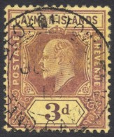 Cayman Islands, 3 P. 1908, Sc # 24, Mi # 24Y, Used - Iles Caïmans
