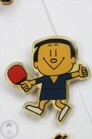 Ping Pong Japan Mascot - Blue Shirt - Pin Badge #PLS - Pin
