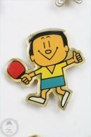 Ping Pong Japan Mascot - Yellow Shirt - Pin Badge #PLS - Otros
