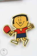 Ping Pong Japan Mascot - Red Shirt - Pin Badge #PLS - Pin