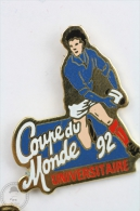 Rugby - Coupe Du Monde Universitaire 1992 - Pin Badge #PLS - Rugby