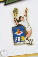 Antenne 2 France Television Roland Garros Tennis - Pin Badge #PLS - Tenis